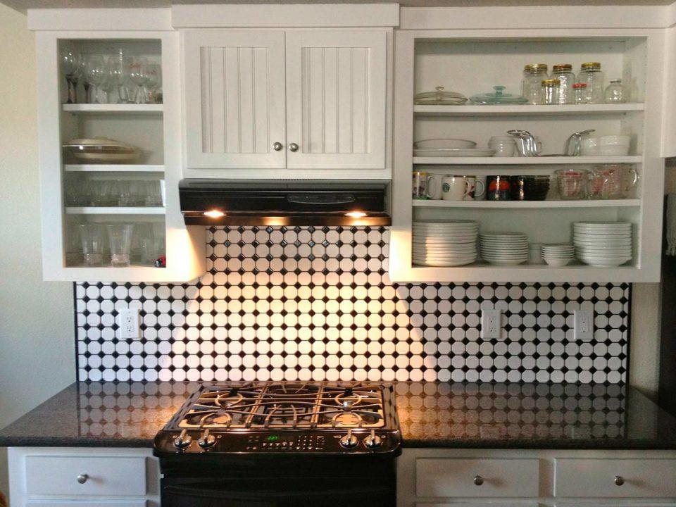 cocina con mosaico hidraulico